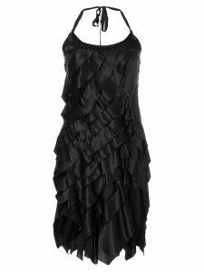 Prada Pre-Owned layered mini dress - Black
