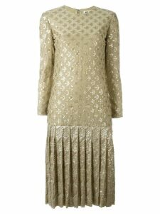Christian Dior Pre-Owned sequinned drop hem dress - Neutrals