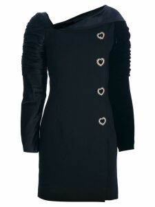 Versace Pre-Owned structured buttoned dress - Black