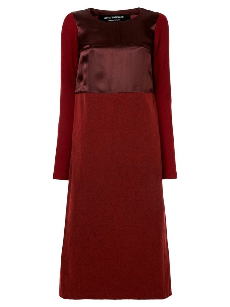 Junya Watanabe Comme Des Garçons Vintage satin-effect midi dress - Red