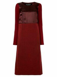 JUNYA WATANABE COMME DES GARÇONS PRE-OWNED satin-effect midi dress -