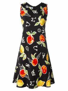 JC de Castelbajac Pre-Owned apple print dress - Black