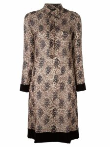 Jean Paul Gaultier Pre-Owned floral velvet trim dress - Neutrals