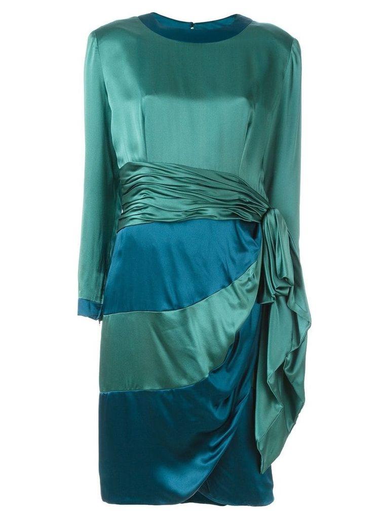 Jean Louis Scherrer Vintage draped panel dress - Green