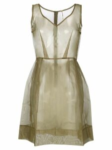COMME DES GARÇONS PRE-OWNED sheer pleated dress - Green