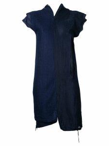 Comme Des Garçons Pre-Owned waffle deconstructed dress - Blue