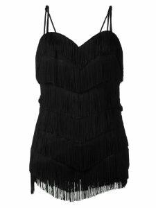 Moschino Vintage fringed dress - Black