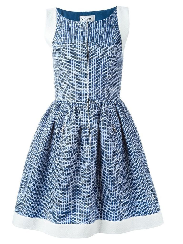 Chanel Vintage pleated A-line dress - Blue