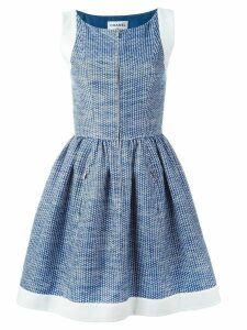 Chanel Pre-Owned pleated A-line dress - Blue