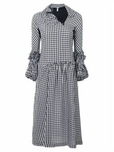 Comme Des Garçons Pre-Owned ruffled gingham dress - Black