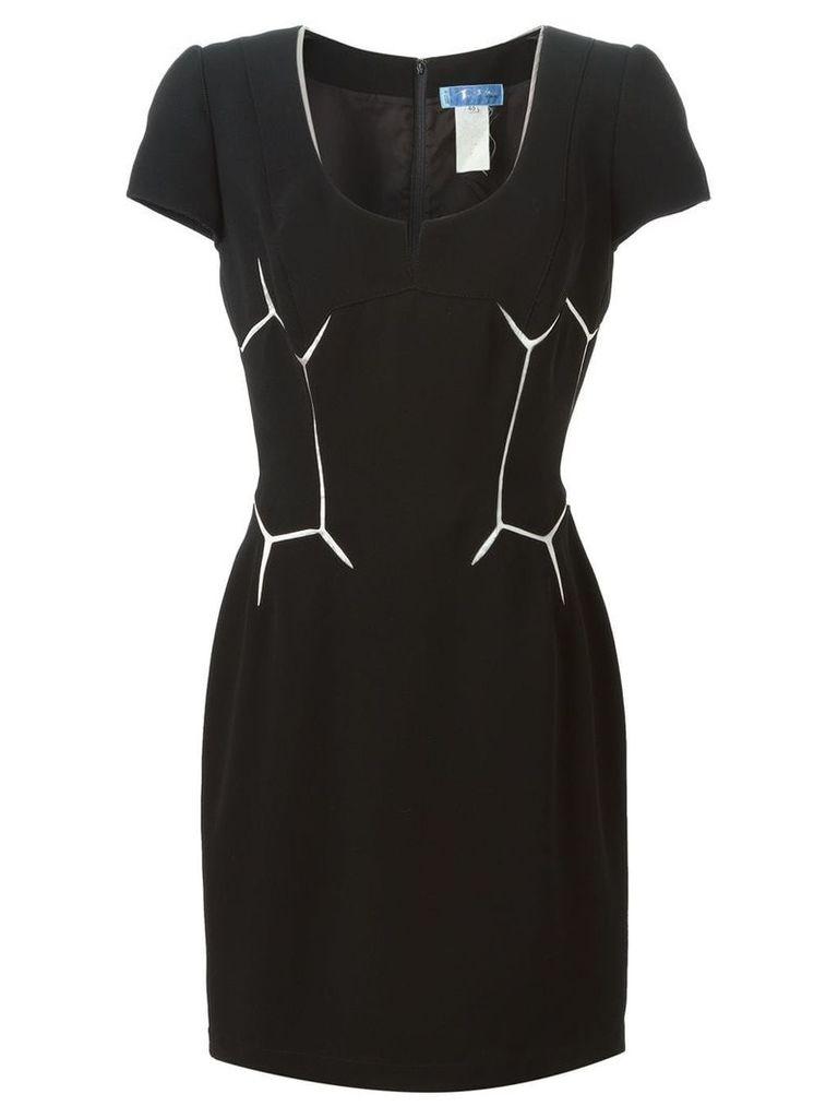 Thierry Mugler Vintage geometric patterned dress - Black