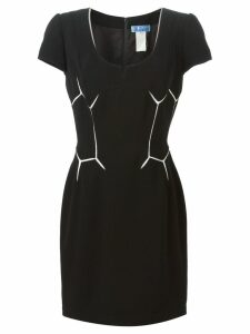 Thierry Mugler Pre-Owned geometric patterned dress - Black