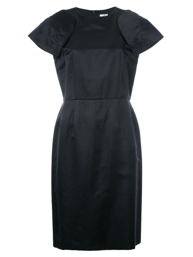 Comme Des Garçons Pre-Owned padded shoulder shift dress - Black