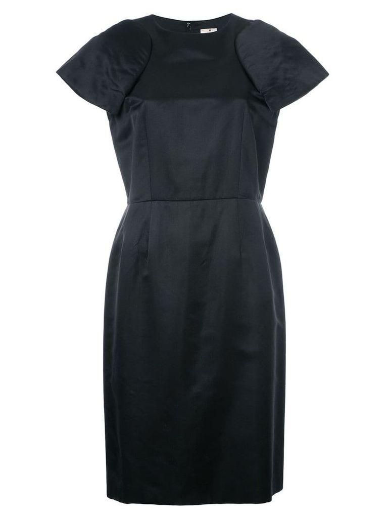 Comme Des Garçons Vintage padded shoulder shift dress - Black
