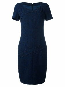 Chanel Pre-Owned fitted panel dress - Blue