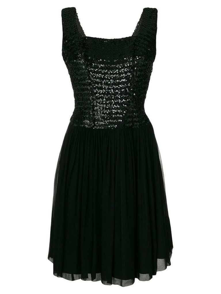 William Vintage I.MAGNIN sequin bodice dress - Black