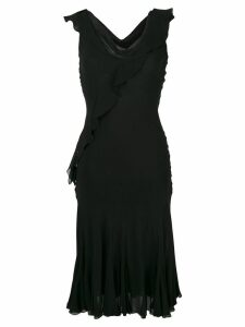 Christian Dior Pre-Owned bias cut dress - Black