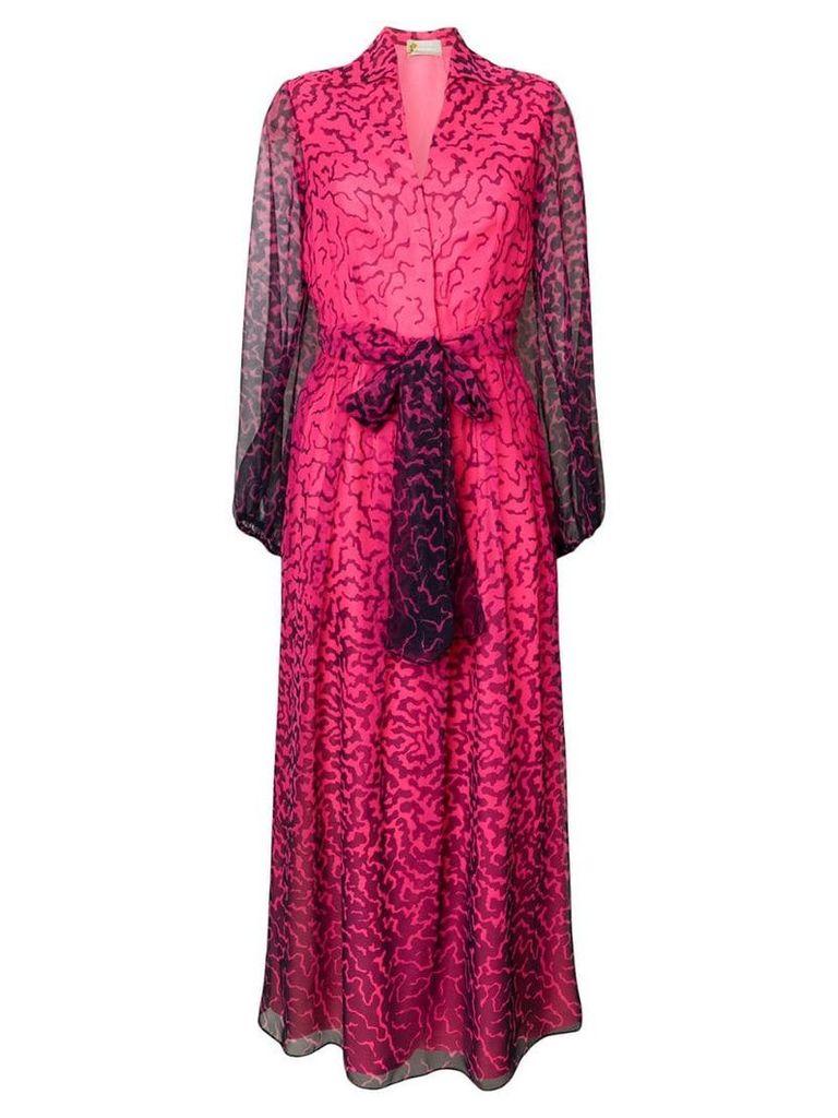 Versace Vintage 1969 printed long dress - Pink/Purple