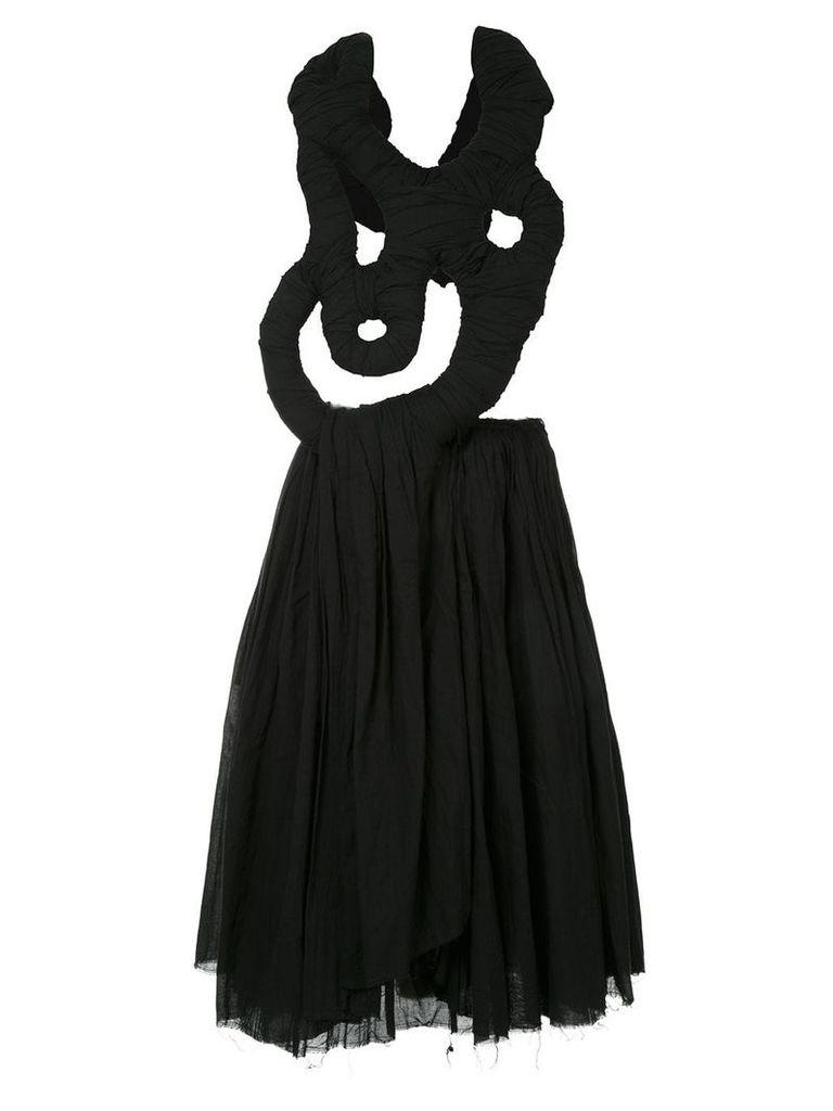 Comme Des Garçons Vintage abstract detail draped dress - Black