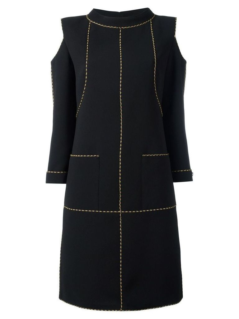 Chanel Vintage cut-out shift dress - Black
