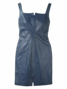 Romeo Gigli Pre-Owned mini leather dress - Blue