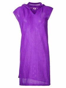 Comme Des Garçons Pre-Owned waffle hooded dress - Purple
