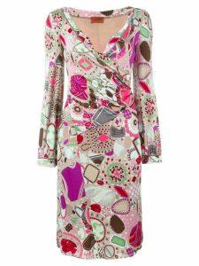 Missoni Pre-Owned printed wrapdress - Multicolour