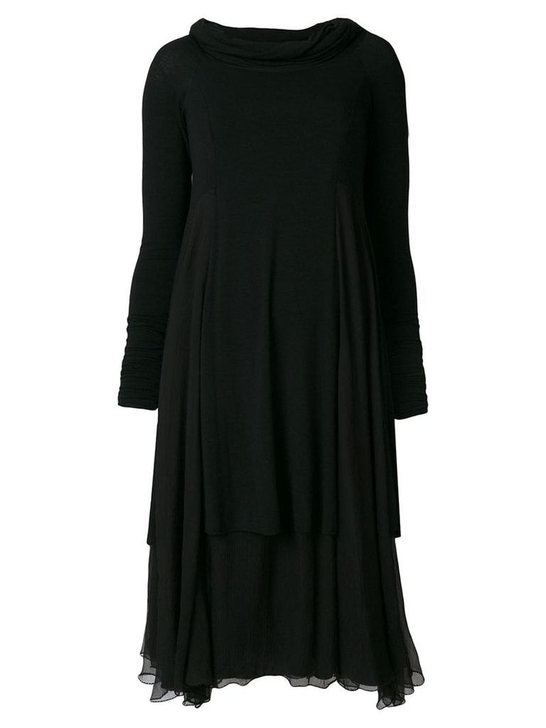 Giorgio Armani Vintage layered dress - Black