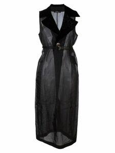 Comme Des Garçons Pre-Owned sheer long dress - Black