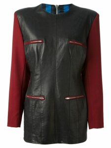JEAN PAUL GAULTIER PRE-OWNED contrast sleeve dress - Black