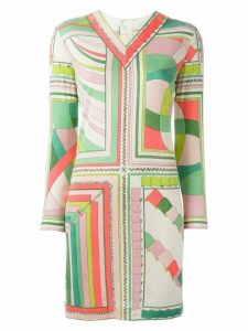Emilio Pucci Pre-Owned longsleeved printed dress - Multicolour
