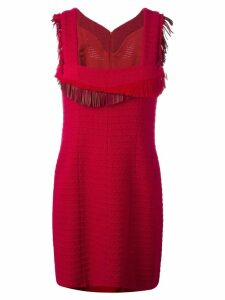 Chanel Pre-Owned 2014 fringed detail dress - Red