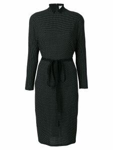Versace Pre-Owned polka dot print dress - Black
