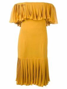 Jean Louis Scherrer Pre-Owned off the shoulder dress - Yellow