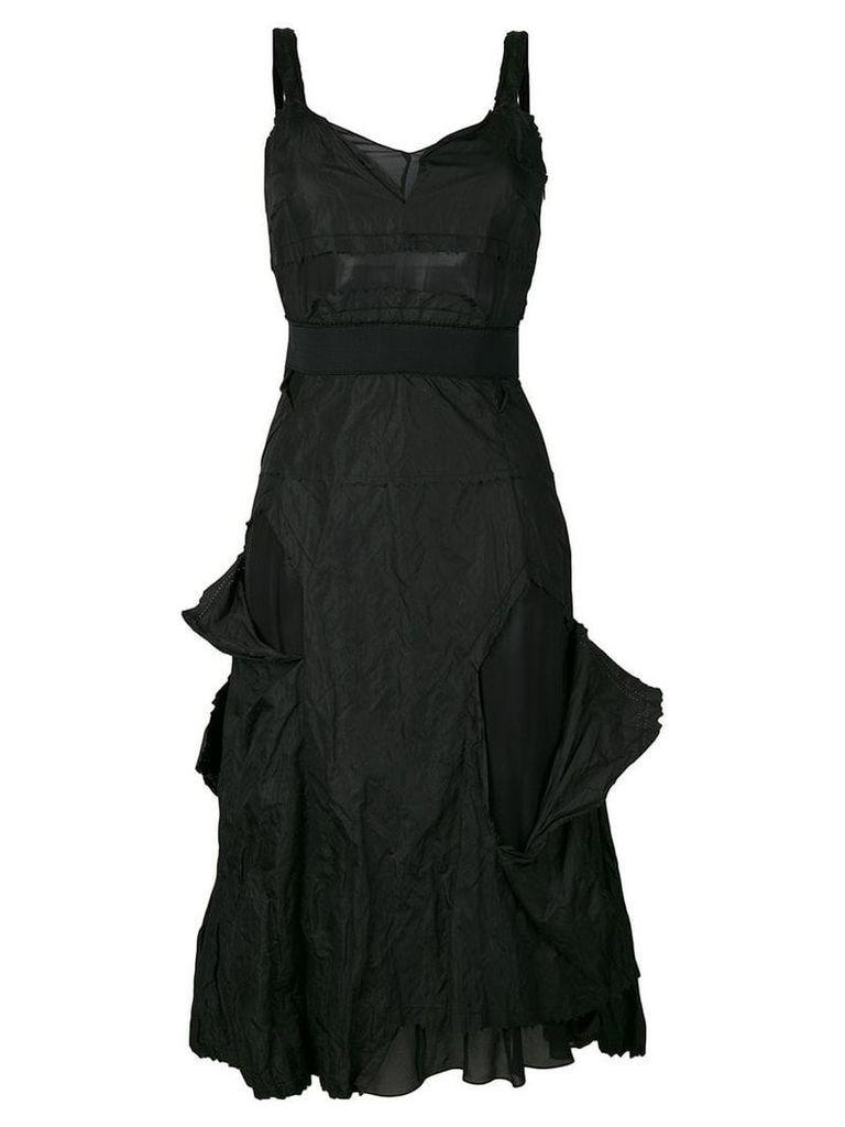 Christian Dior Vintage distressed sleeveless dress - Black