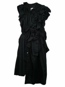 Comme Des Garçons Pre-Owned deconstructed shirt dress - Black