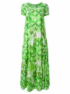 Walter Van Beirendonck Pre-Owned 'Hi-Sci-Fi' flared dress - Green