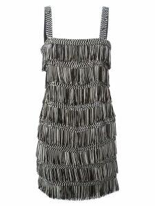 Christian Dior Pre-Owned fringed mini dress - Black