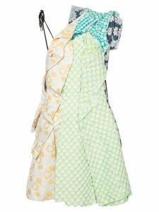 Comme Des Garçons Pre-Owned patchwork dress - Yellow