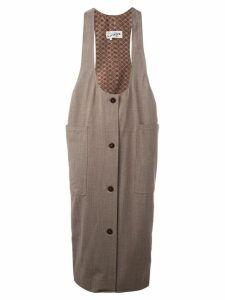 Jean Paul Gaultier Pre-Owned midi pinafore dress - Neutrals