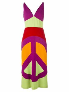 Moschino Pre-Owned peace print maxi dress - Multicolour