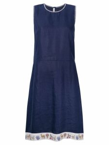 Miu Miu Pre-Owned printed trim dress - Blue
