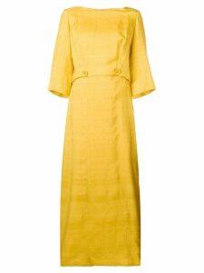 William Vintage button waist dress - Yellow