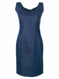 John Galliano Pre-Owned denim sleeveless dress - Blue