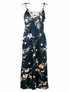 Giorgio Armani Pre-Owned embellished floral slip dress - Blue