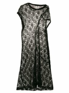Comme Des Garçons Pre-Owned asymmetric sheer lace dress - Black