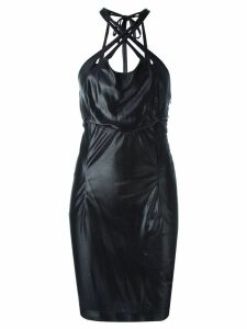 KRIZIA PRE-OWNED criss-cross stretch dress - Black