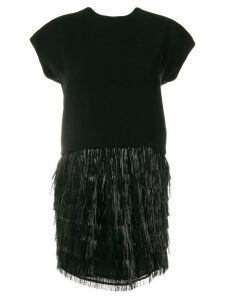 Balenciaga Pre-Owned fringed cocktail dress - Black