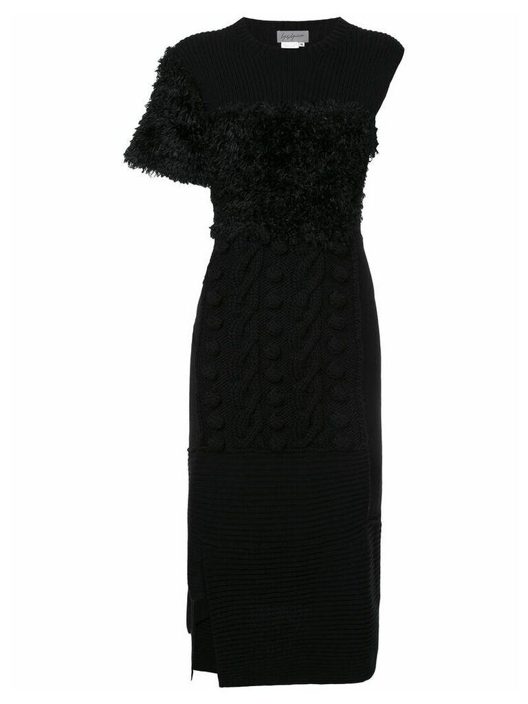 Yohji Yamamoto Vintage deconstructed knit dress - Black