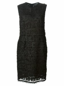 Jean Louis Scherrer Pre-Owned feather-knit dress - Black